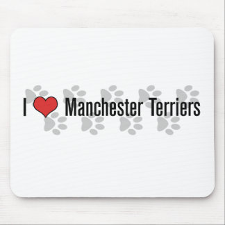 I (heart) Manchester Terriers Mousepad