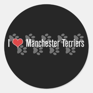 I (heart) Manchester Terriers Round Sticker