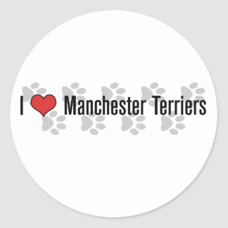 I (heart) Manchester Terriers Classic Round Sticker