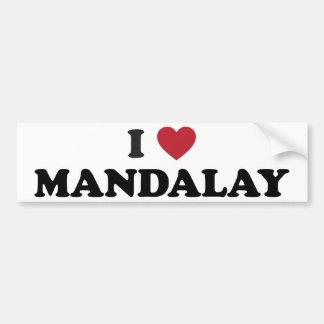 I Heart Mandalay Myanmar Bumper Sticker
