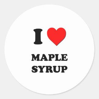 I Heart Maple Syrup Round Sticker