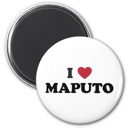 I Heart Maputo Mozambique 6 Cm Round Magnet