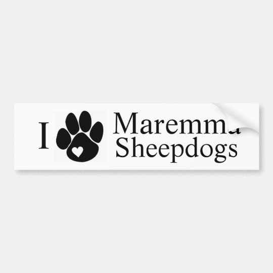 I heart Maremma Sheepdogs Bumper Sticker