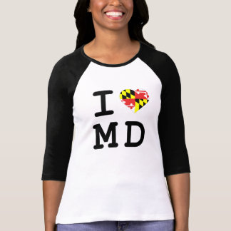 I heart Maryland Three Quarter Length Tee