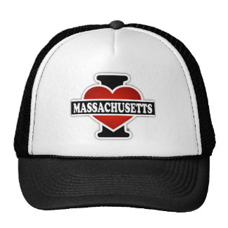 I Heart Massachusetts Cap