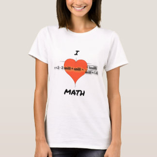 I Heart Math Equation T-Shirt