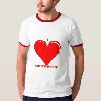 i heart mature women tshirt
