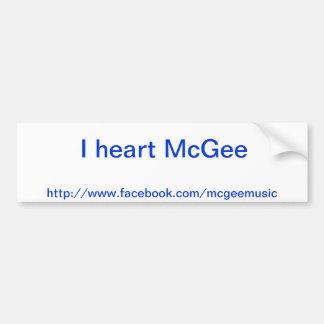 I heart McGee bumper sticker