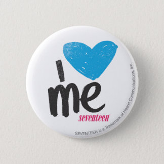 I Heart Me Aqua 6 Cm Round Badge