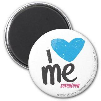 I Heart Me Aqua 6 Cm Round Magnet