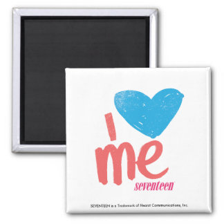 I Heart Me Aqua/Pink Fridge Magnet