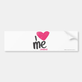 I Heart Me Magenta Bumper Sticker
