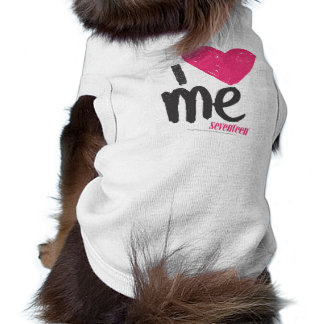 I Heart Me Magenta Sleeveless Dog Shirt
