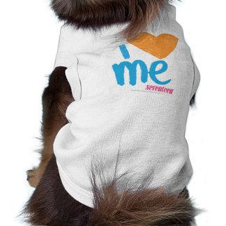 I Heart Me Orange/Aqua Sleeveless Dog Shirt