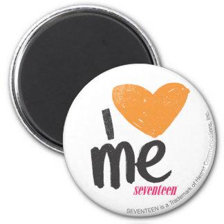 I Heart Me Orange 6 Cm Round Magnet
