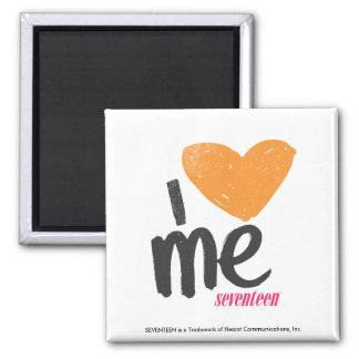 I Heart Me Orange Square Magnet