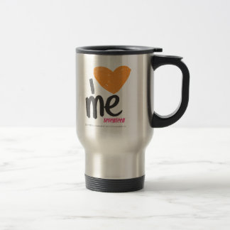 I Heart Me Orange Travel Mug
