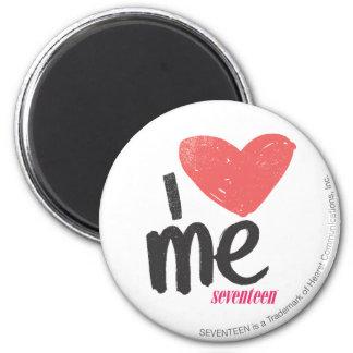 I Heart Me Pink 6 Cm Round Magnet