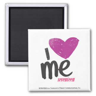I Heart Me Purple Refrigerator Magnets
