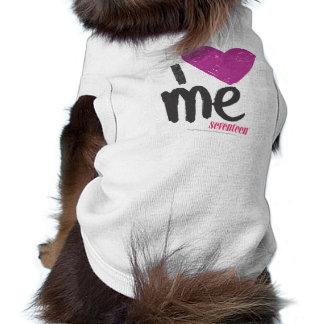 I Heart Me Purple Sleeveless Dog Shirt