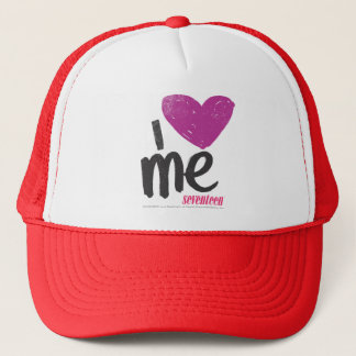 I Heart Me Purple Trucker Hat