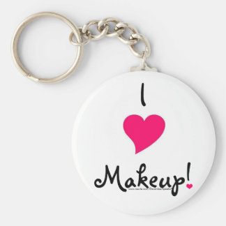 I heart meakup! basic round button key ring