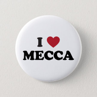 I Heart Mecca Saudi Arabia 6 Cm Round Badge