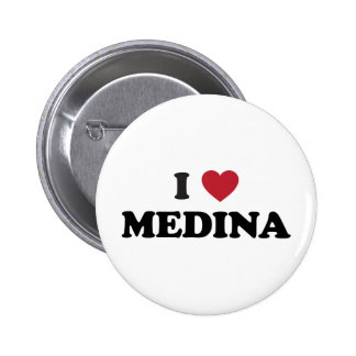 I Heart Medina Saudi Arabia 6 Cm Round Badge