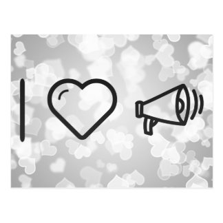 I Heart Megaphones Postcard