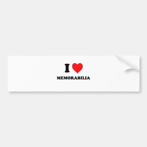 I Heart Memorabilia Bumper Stickers