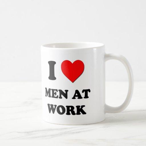 I Heart Men At Work Coffee Mug