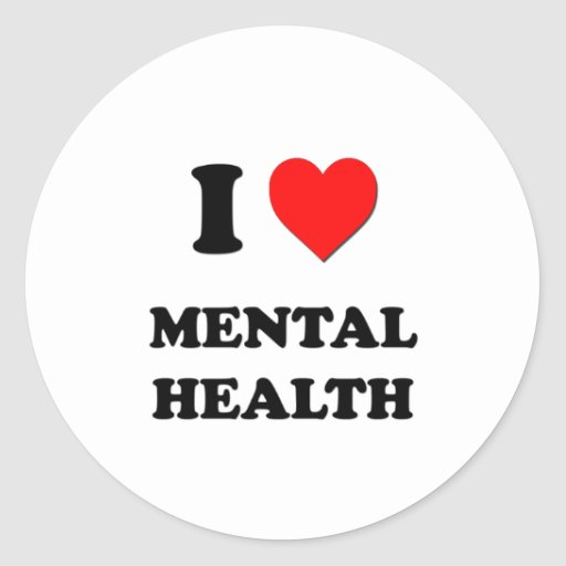 I Heart Mental Health Stickers