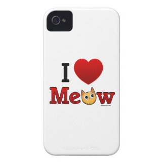 """I Heart Meow"" ""I Heart Cats"" Cat iPhone Case Case-Mate iPhone 4 Cases"
