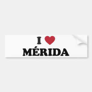 I Heart Mérida Mexico Bumper Sticker