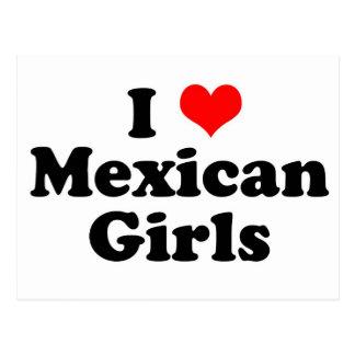 I Heart Mexican Girls Postcard