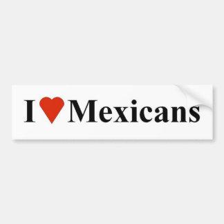 I Heart Mexicans Bumper Sticker