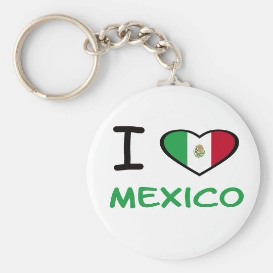 I Heart Mexico Basic Round Button Key Ring