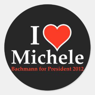 I Heart Michele Bachmann Round Sticker