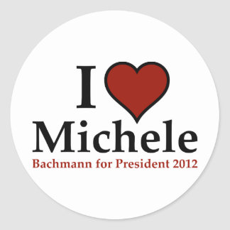 I Heart Michele Bachmann Round Stickers