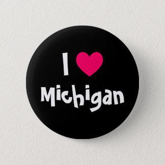 I Heart Michigan 6 Cm Round Badge