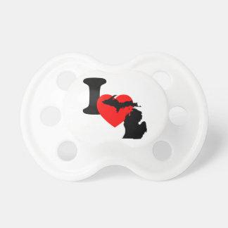 I Heart Michigan Baby Pacifier