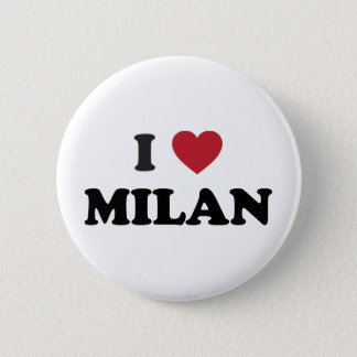I Heart Milan Italy 6 Cm Round Badge