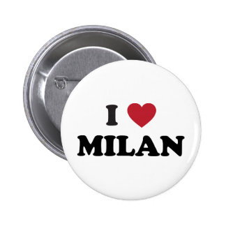 I Heart Milan Italy 6 Cm Round Badge