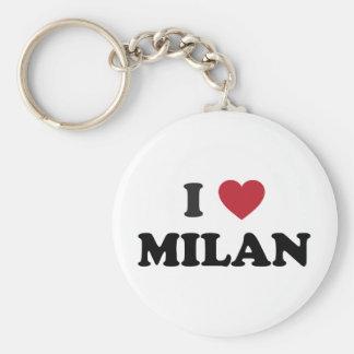 I Heart Milan Italy Basic Round Button Key Ring