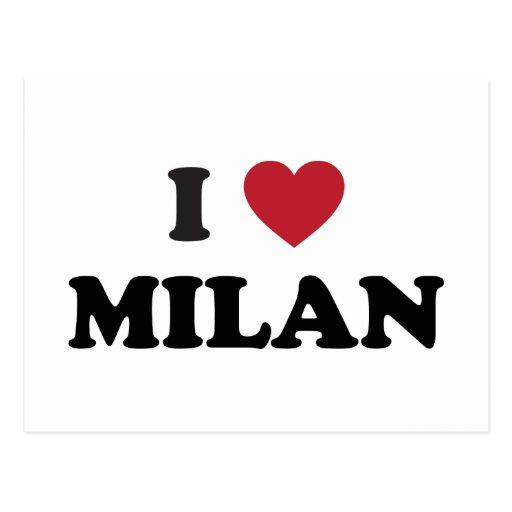 I Heart Milan Italy Postcard