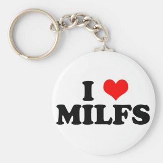 I Heart Milfs Keychain