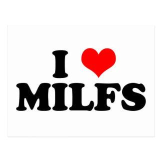 I Heart Milfs Postcard