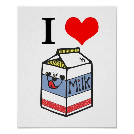 I heart milk poster