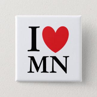 I Heart Minnesota 15 Cm Square Badge