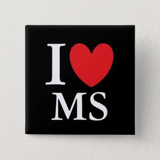 I Heart Mississippi 15 Cm Square Badge